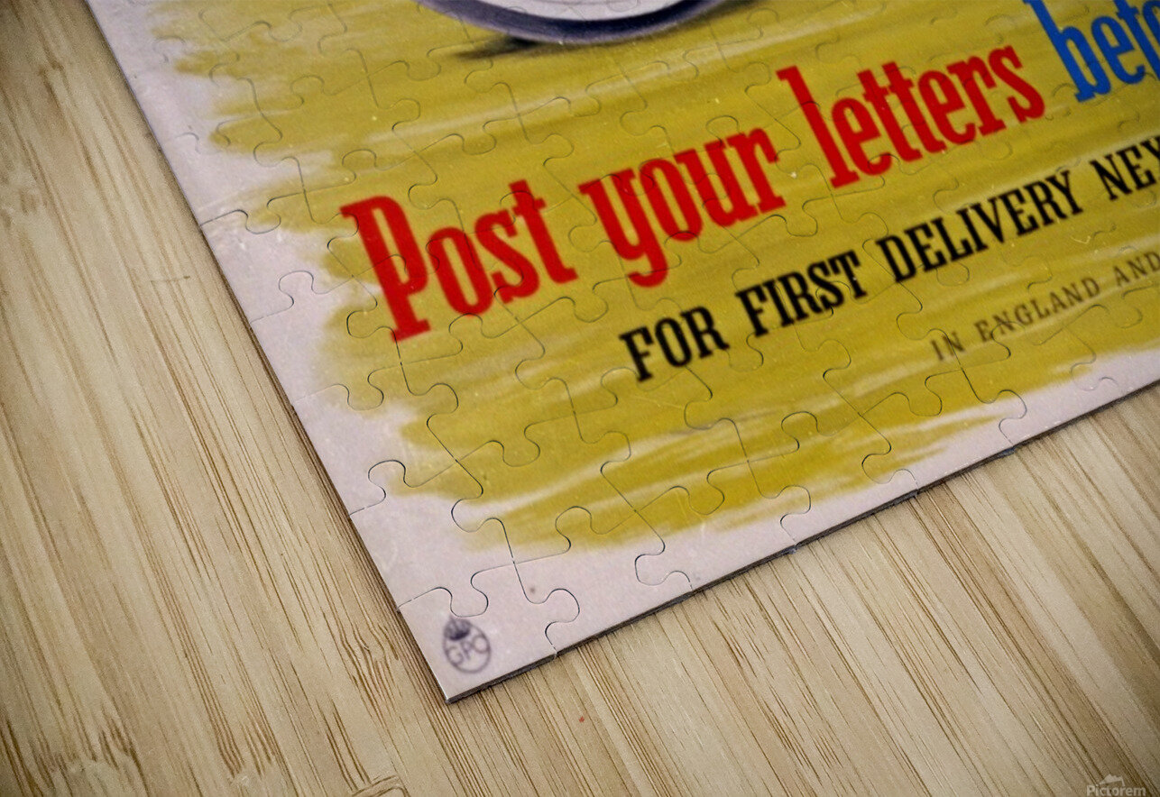 Post your letters before noon HD Sublimation Metal print