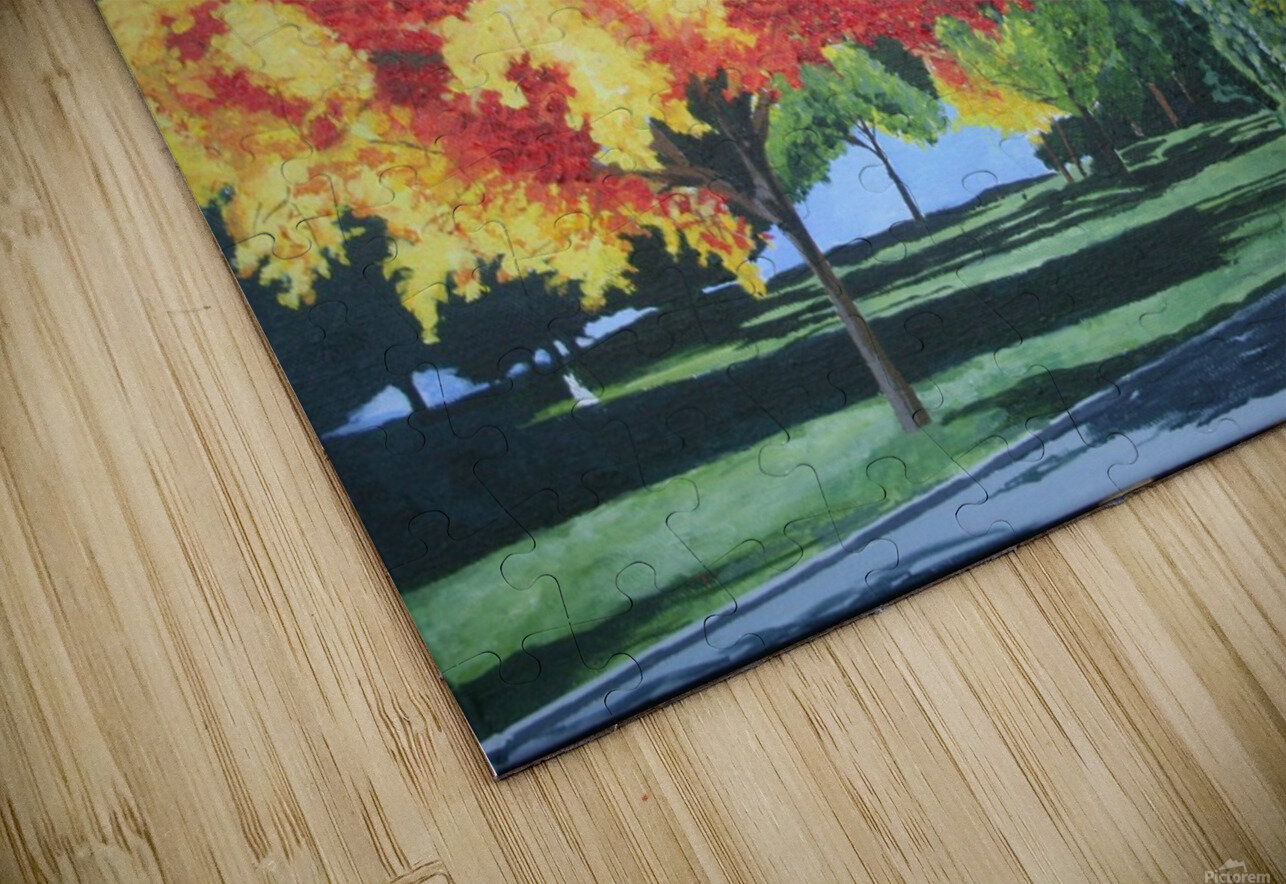 College Trees HD Sublimation Metal print