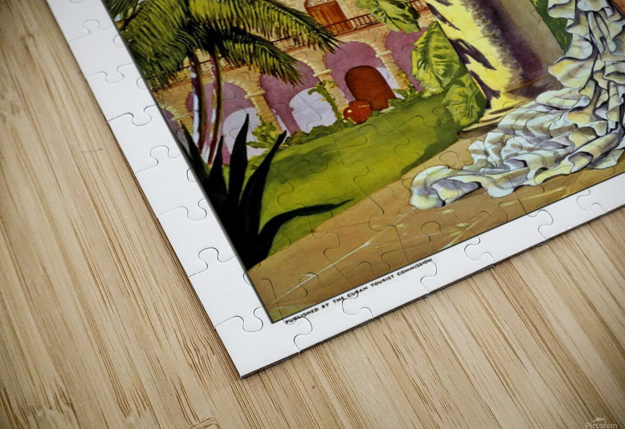 Cuba Holiday Isle of the Tropics poster HD Sublimation Metal print