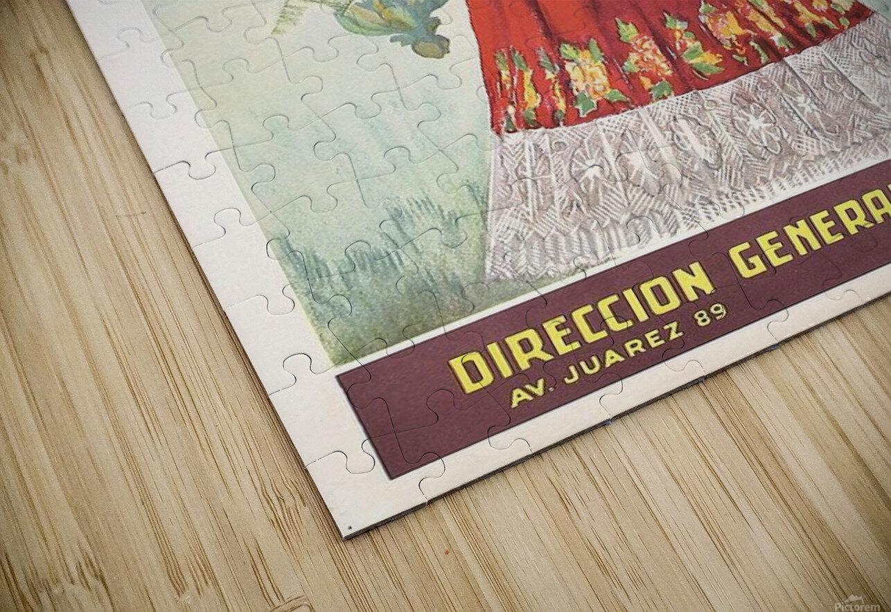 Mexico Tehuantepec vintage poster HD Sublimation Metal print