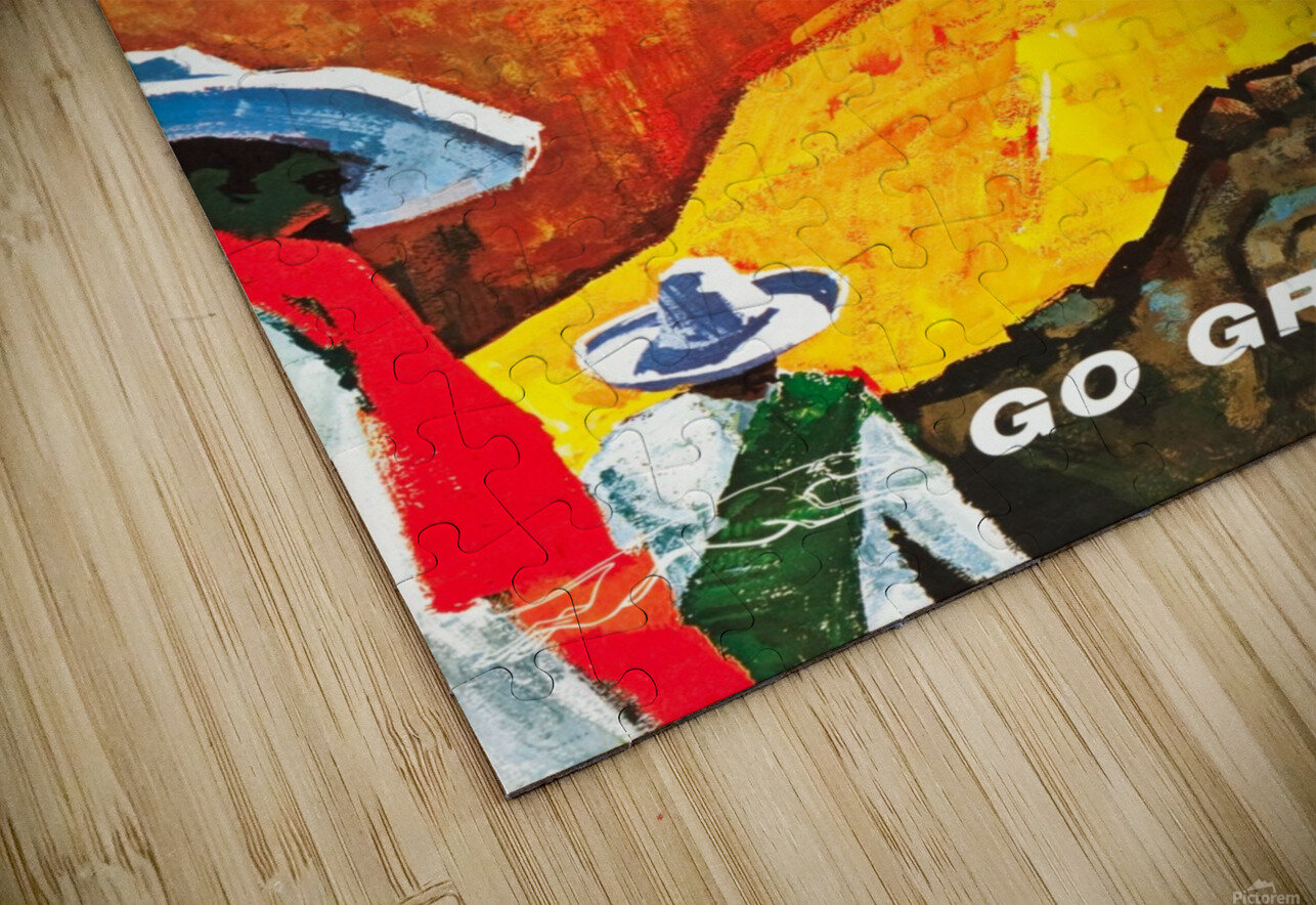 Mexico Go Greyhound Travel Poster HD Sublimation Metal print