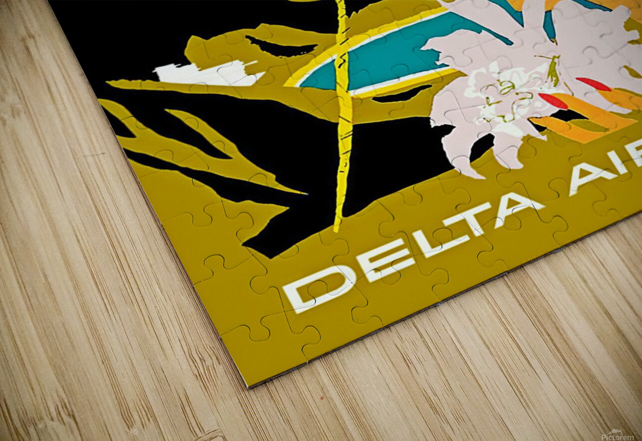 Vintage Jamaica Delta Airlines Poster HD Sublimation Metal print