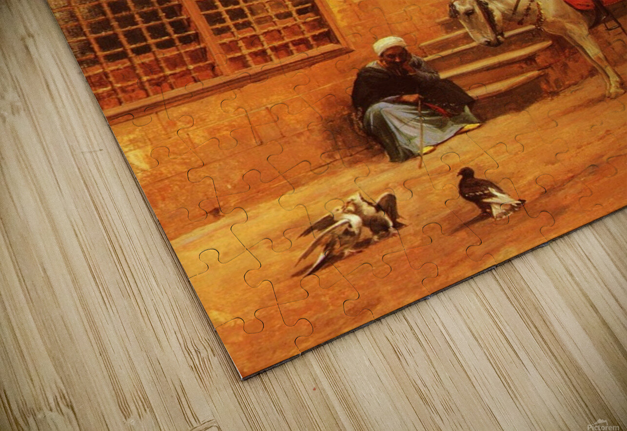 The Courtyard HD Sublimation Metal print