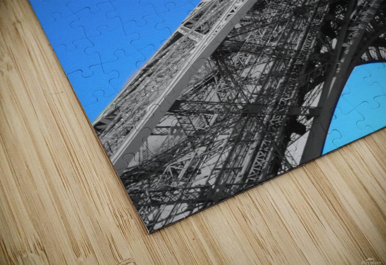 silver Eiffel tower Paris HD Sublimation Metal print