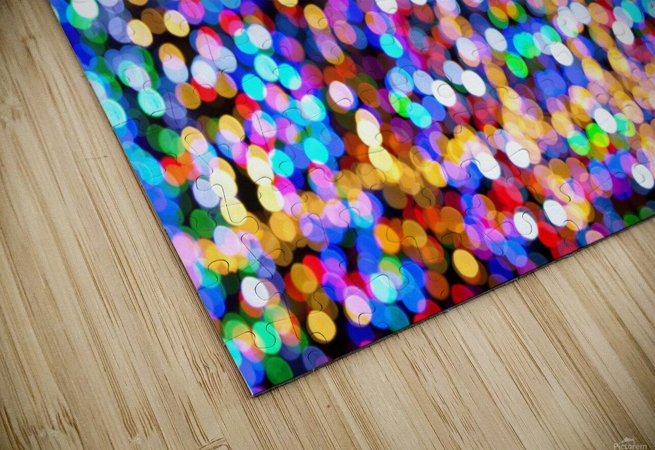 bokeh multicolor HD Sublimation Metal print