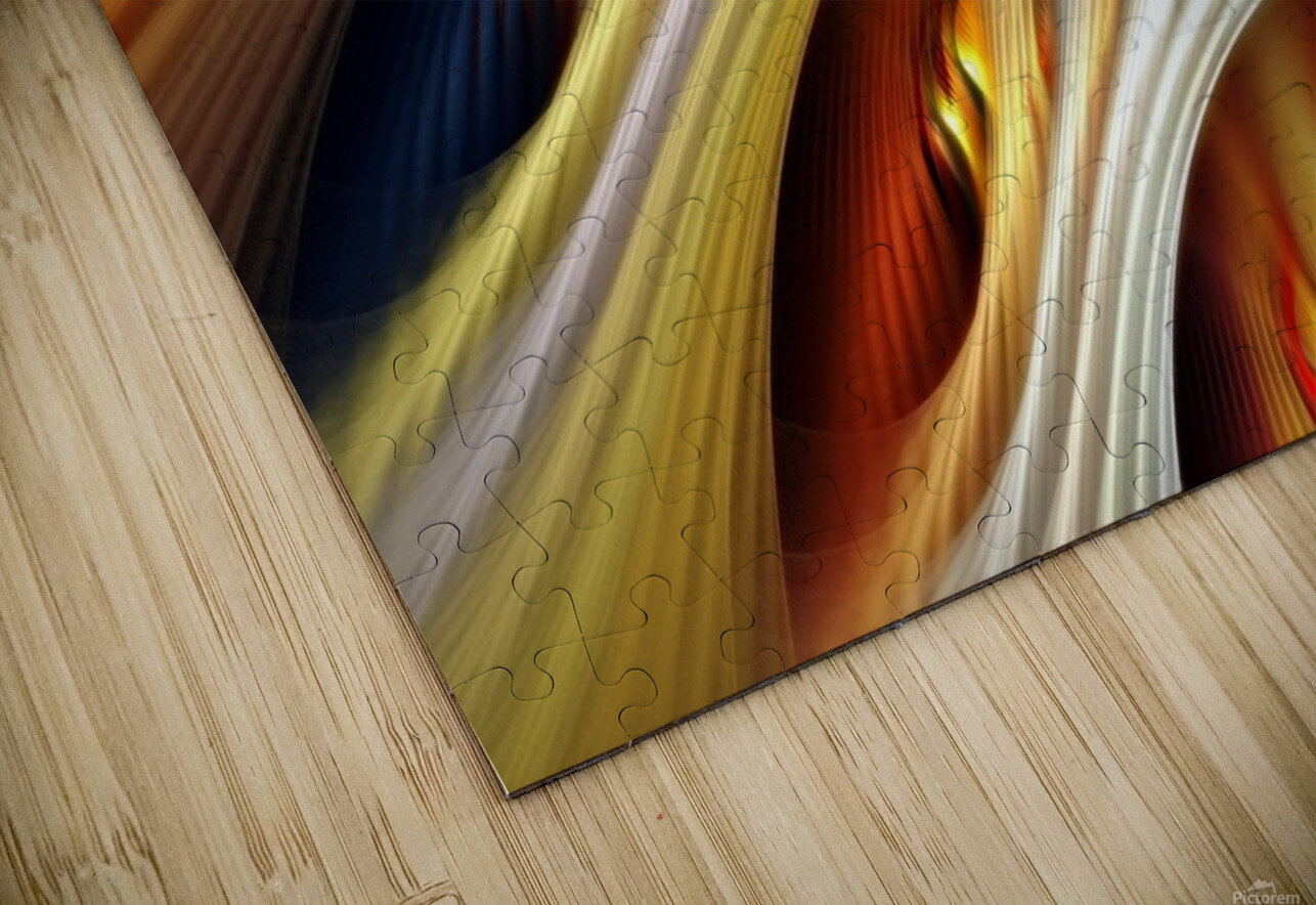 Colors Stripes Abstract Background Strings HD Sublimation Metal print