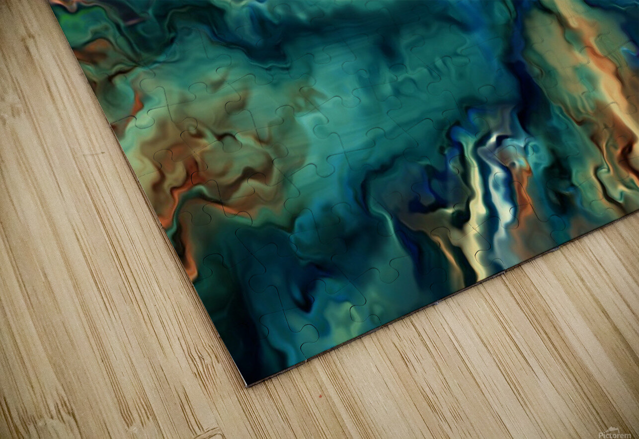 Oil Painting Abstract Color Line Wave Design HD Sublimation Metal print
