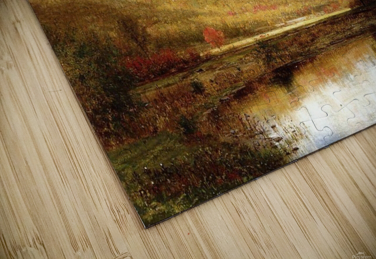Autumn on the Deleware HD Sublimation Metal print