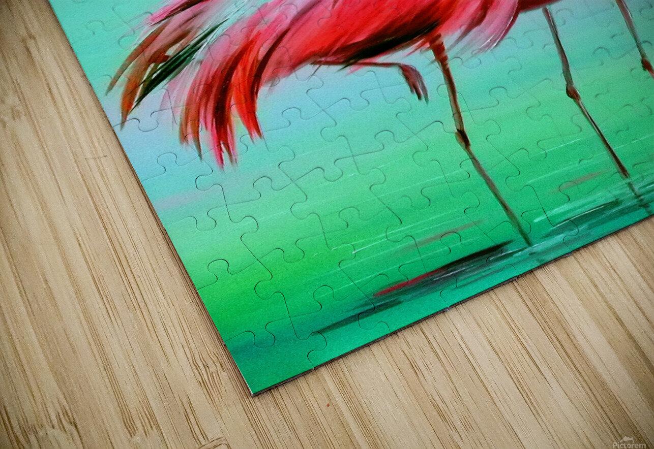 Фламинго на рассвете  HD Sublimation Metal print