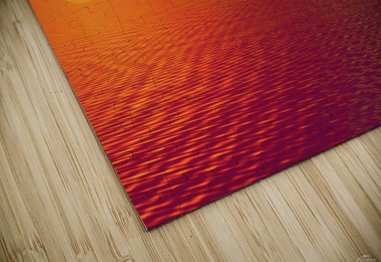 Sunset Over The Water HD Sublimation Metal print
