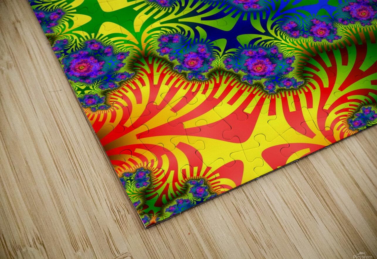 Vivid Abstract Image HD Sublimation Metal print