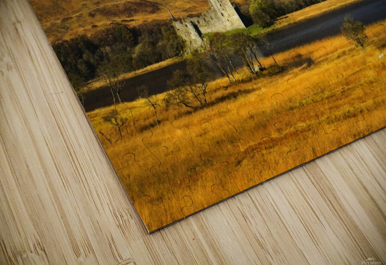 Kilchurn Castle, Loch Awe, Scotland HD Sublimation Metal print