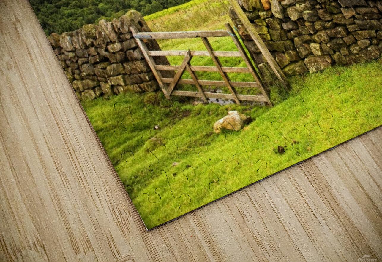 Stone Fence, Yorkshire, England HD Sublimation Metal print
