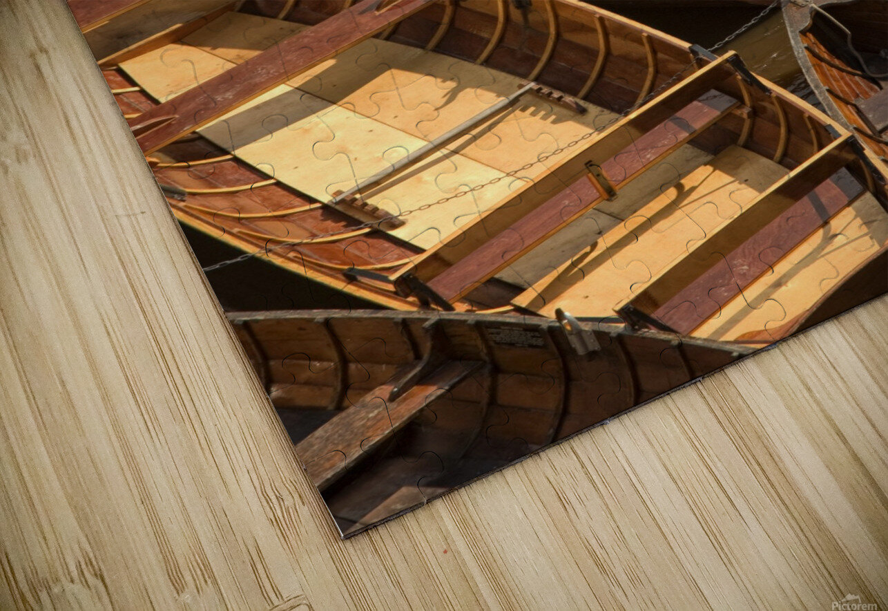 Wooden Boats HD Sublimation Metal print