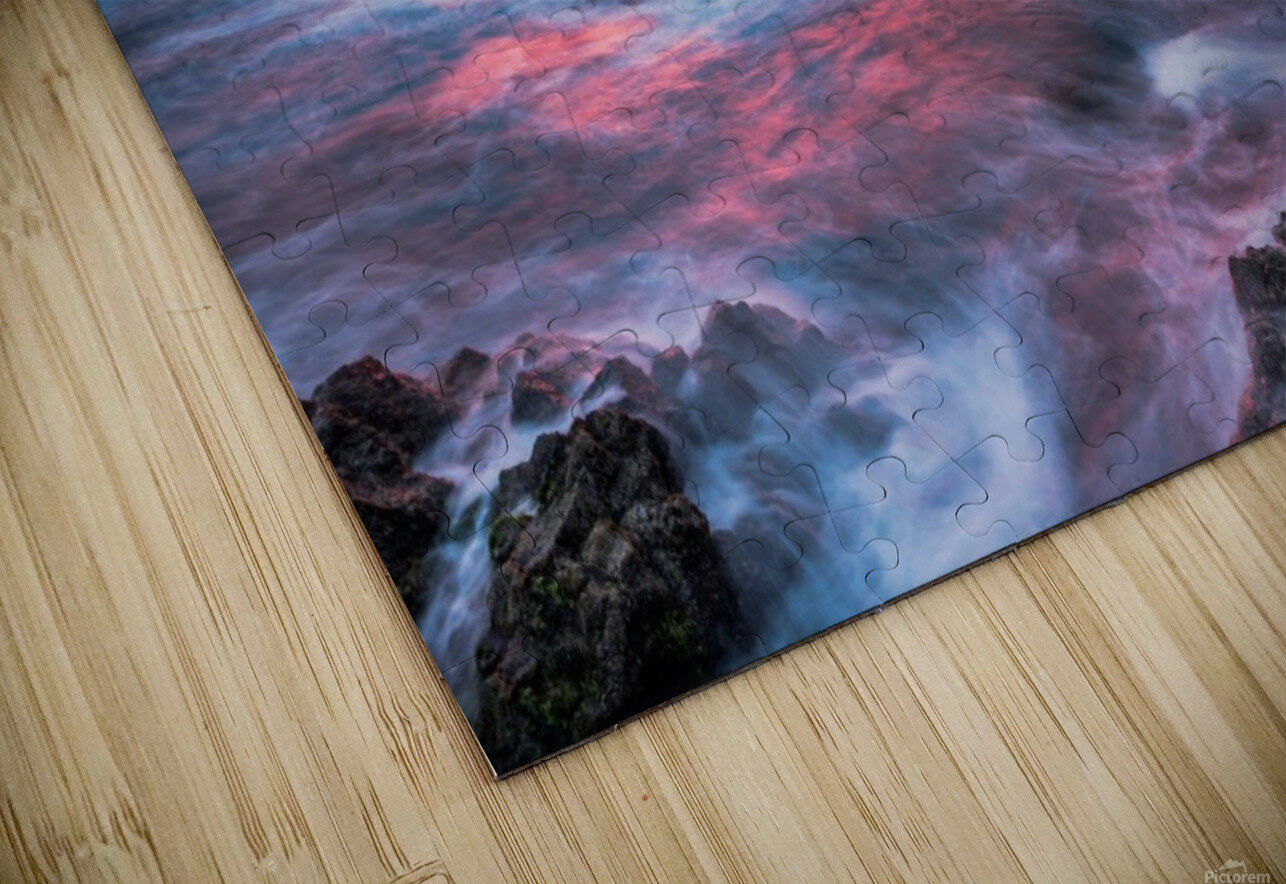 Colorful Sunset at Wild Coast on the Canary Islands HD Sublimation Metal print