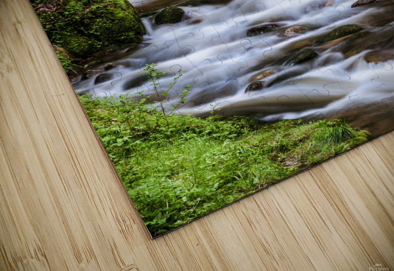 Watefall in the Black Forest in Germany HD Sublimation Metal print
