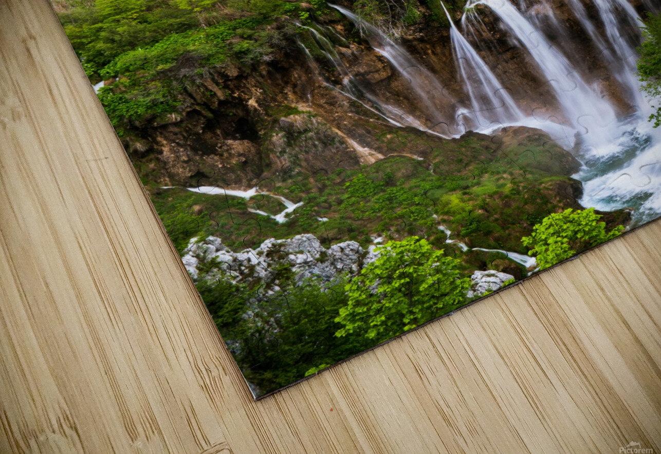 Waterfall Paradise Plitvice Lakes in Croatia HD Sublimation Metal print