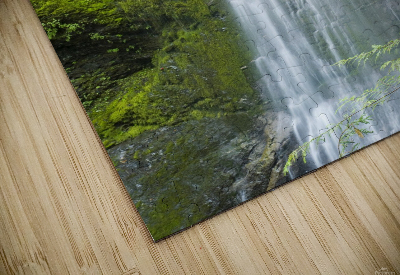 Marymere Falls, Olympic National Park HD Sublimation Metal print