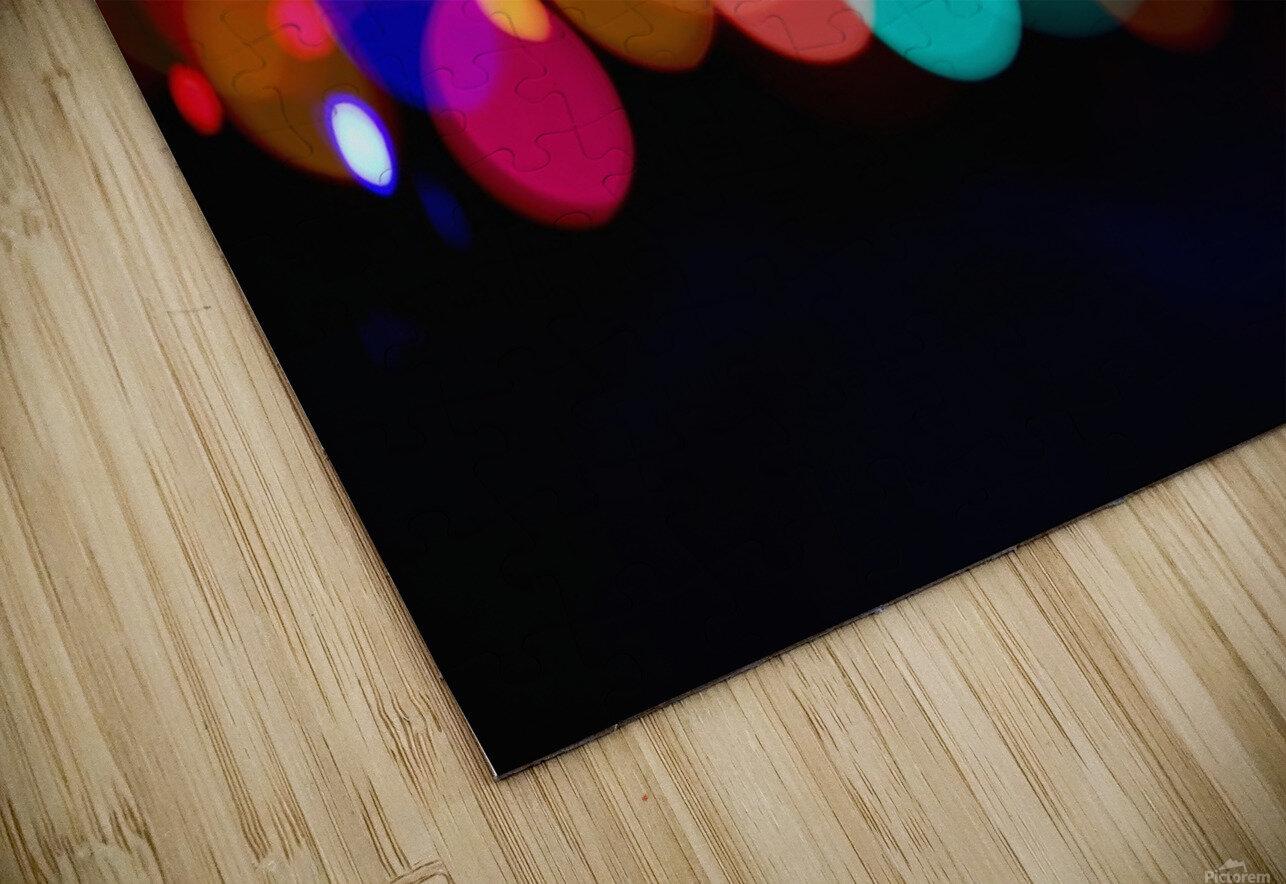 The Blur Of Coloured Lights; Edmonton, Alberta, Canada HD Sublimation Metal print
