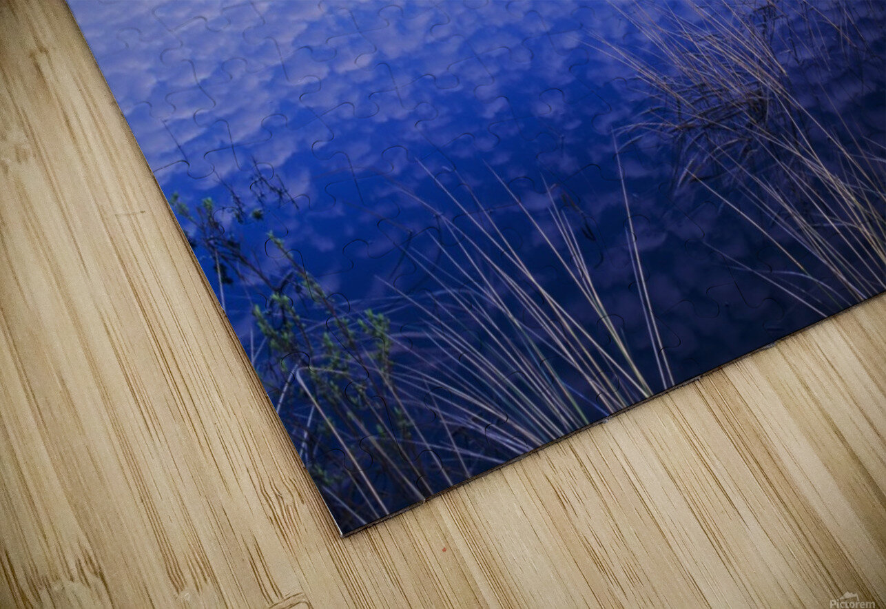 Clouds reflected in the deflection plain; Lakeside, Oregon, United States of America HD Sublimation Metal print