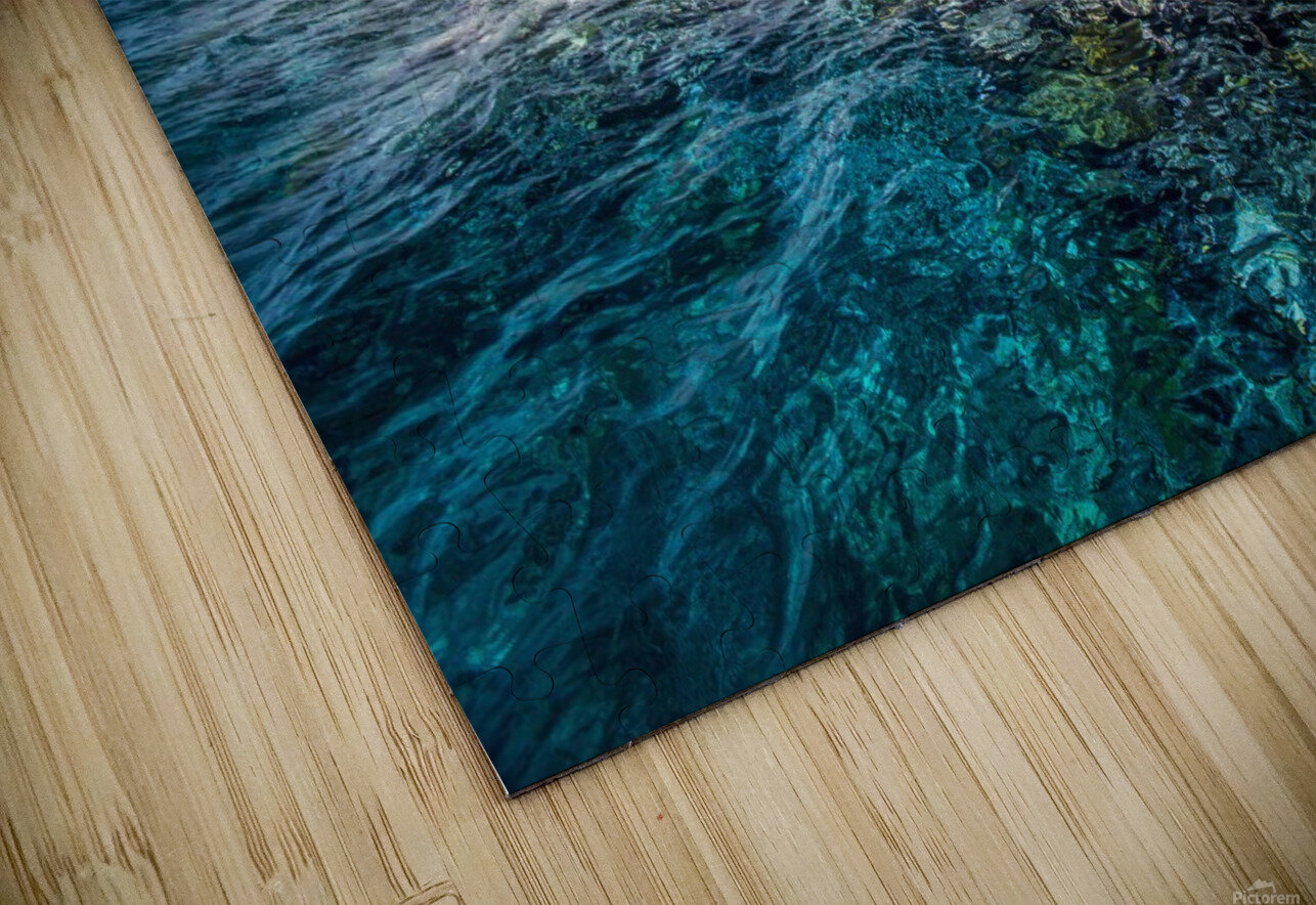 An island that forms part of the marine park, near the Tuvalu mainland; Tuvalu HD Sublimation Metal print