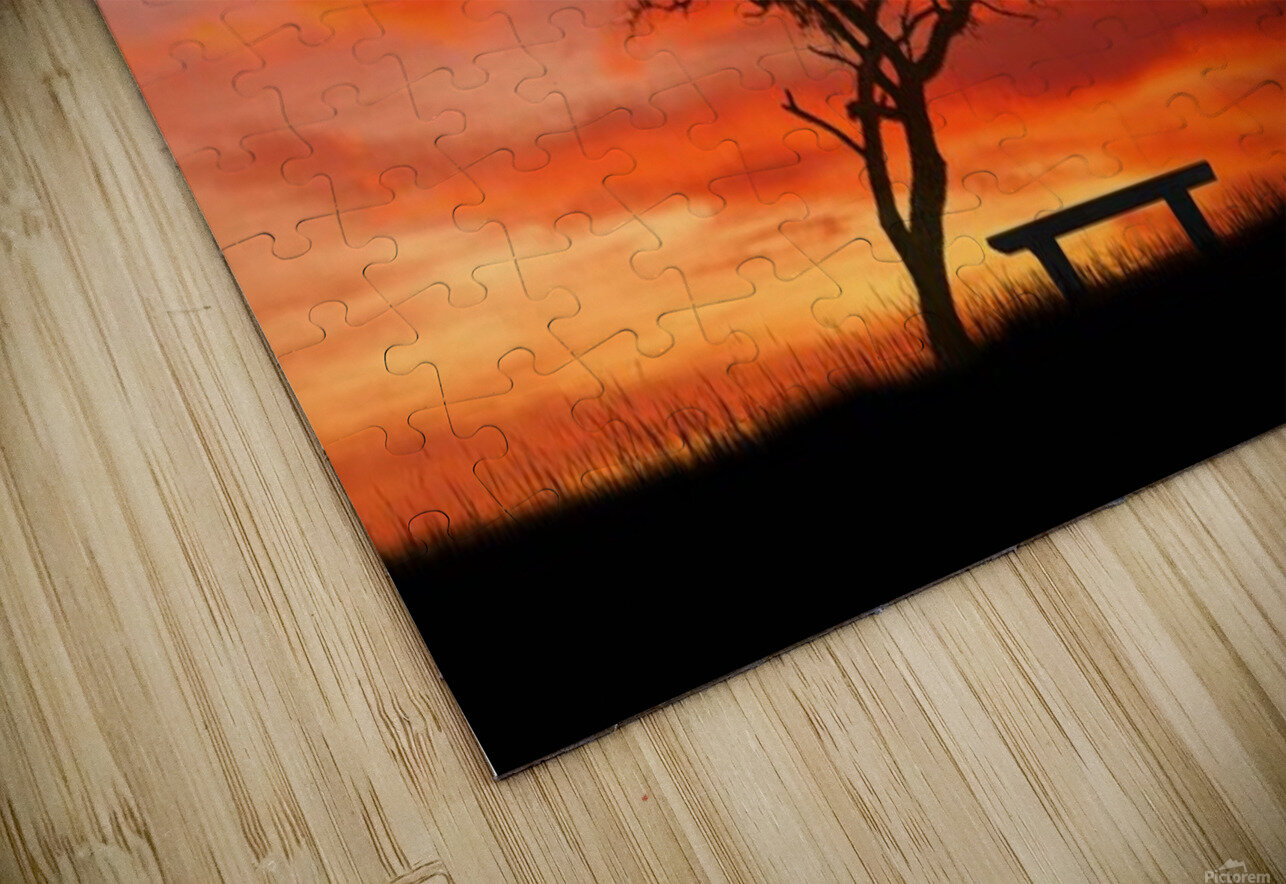 lonely sunset HD Sublimation Metal print