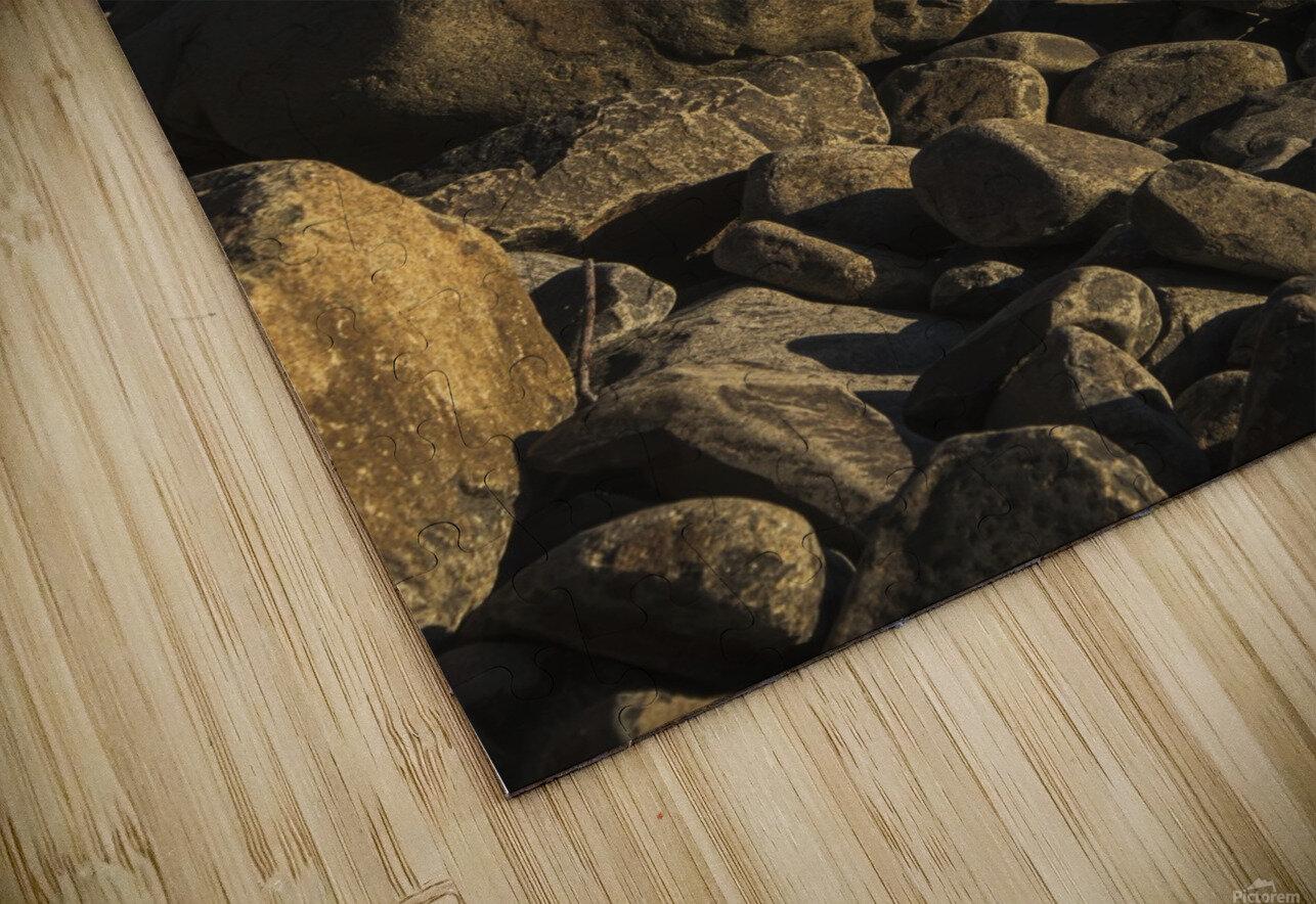 Stones have been balanced on Neahkahnie Beach; Manzanita, Oregon, United States of America HD Sublimation Metal print