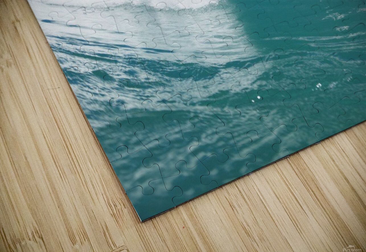 Blue Ocean Wave and Sunny Blue Sky HD Sublimation Metal print