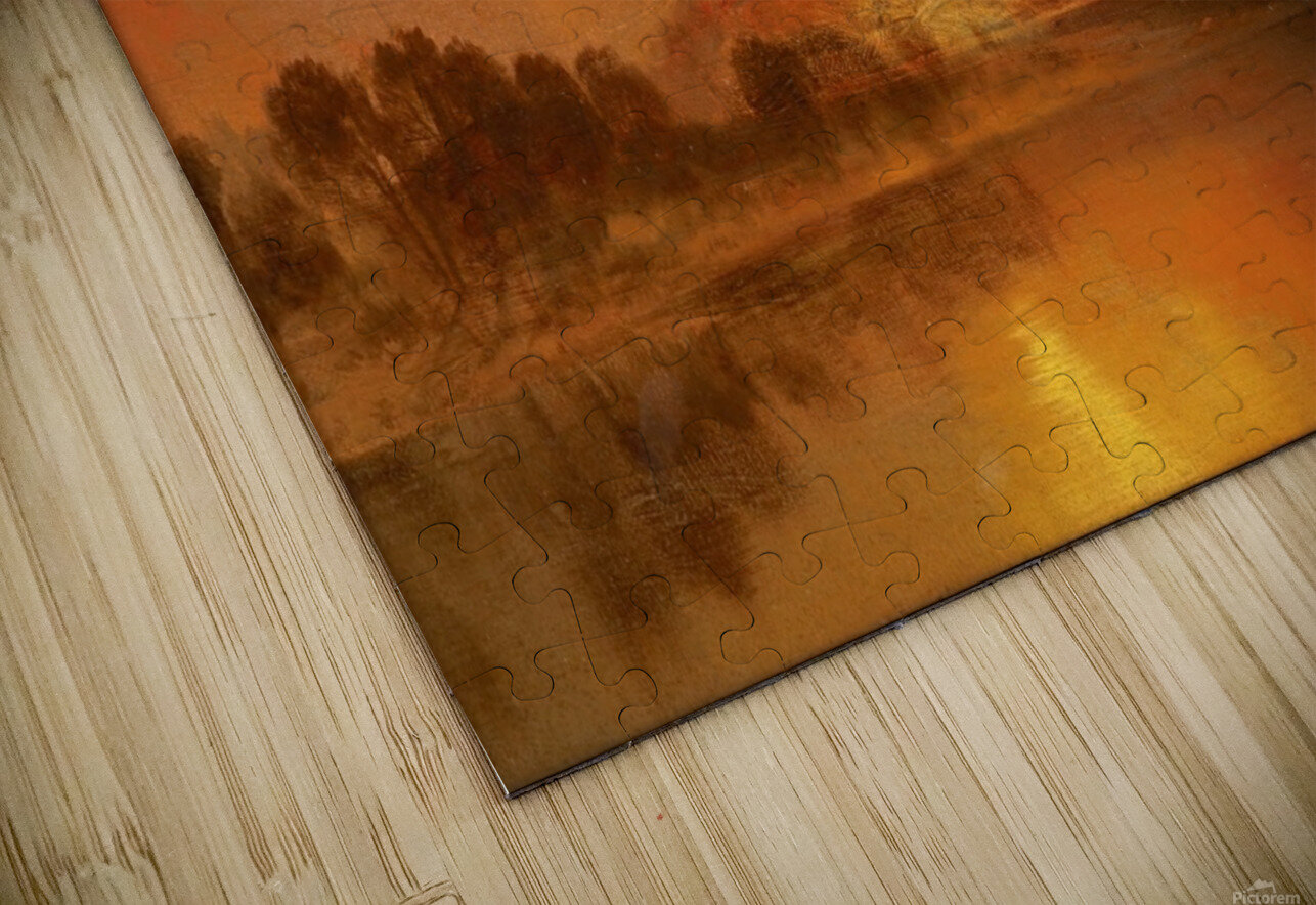 The golden hour HD Sublimation Metal print