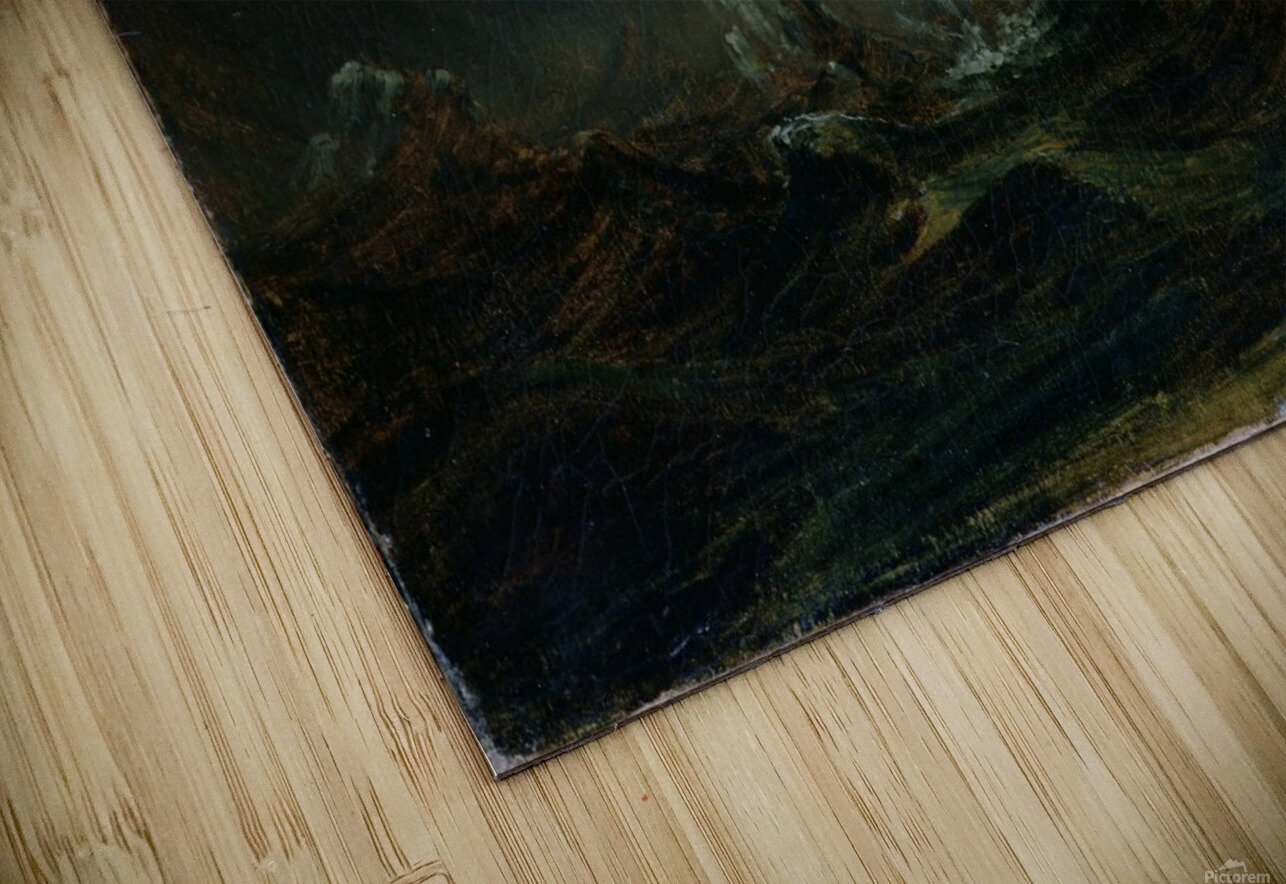 Sturmische See mit Leuchtturm HD Sublimation Metal print