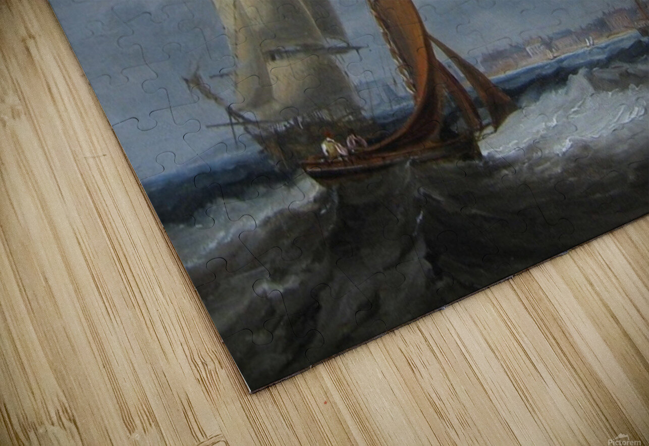 Shipping off Seaham HD Sublimation Metal print