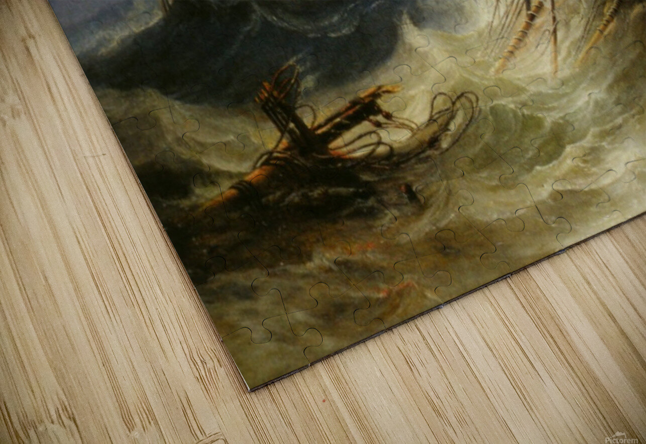 A stormy day on the sea and the lighthouse HD Sublimation Metal print