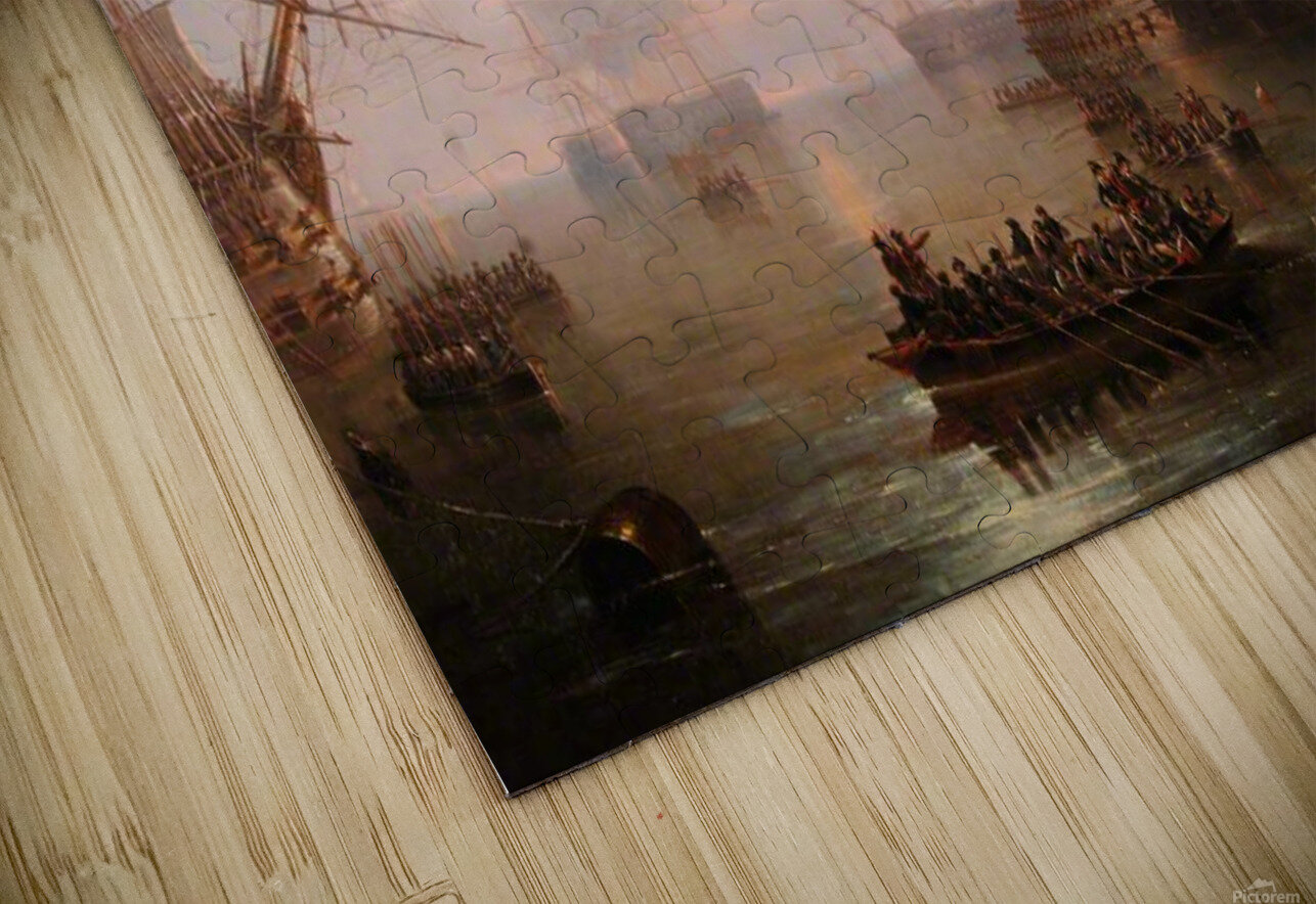Anchored off the Isle of Wight HD Sublimation Metal print