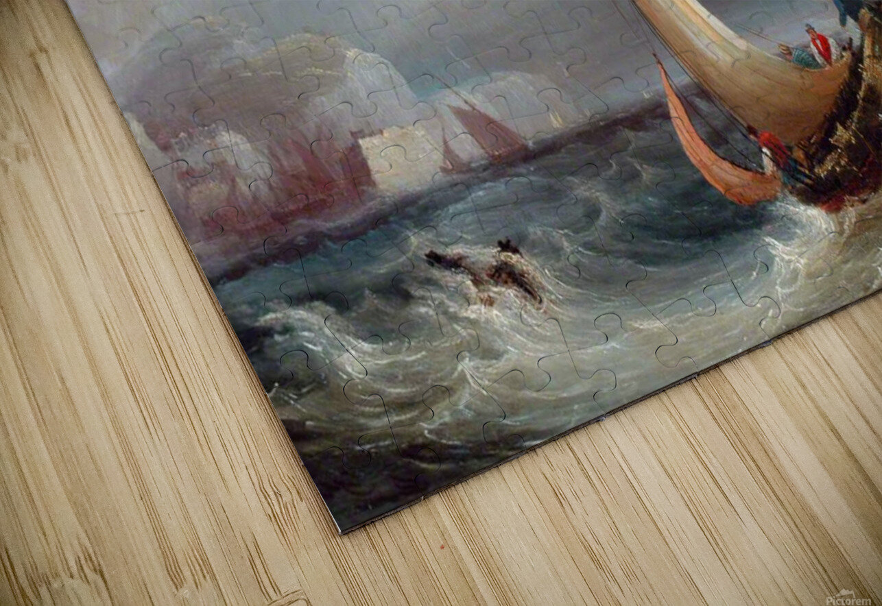 Shipping Offshore in a Stormy Sea HD Sublimation Metal print