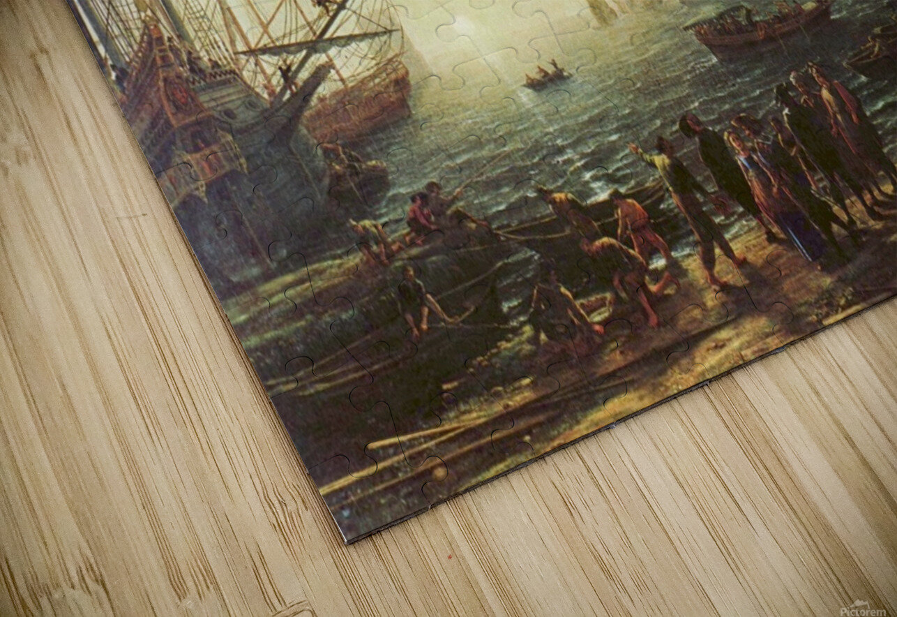 Seaport with the Villa Medici HD Sublimation Metal print