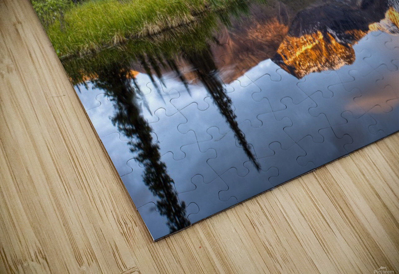 Reflection Of Skookum Volcano HD Sublimation Metal print