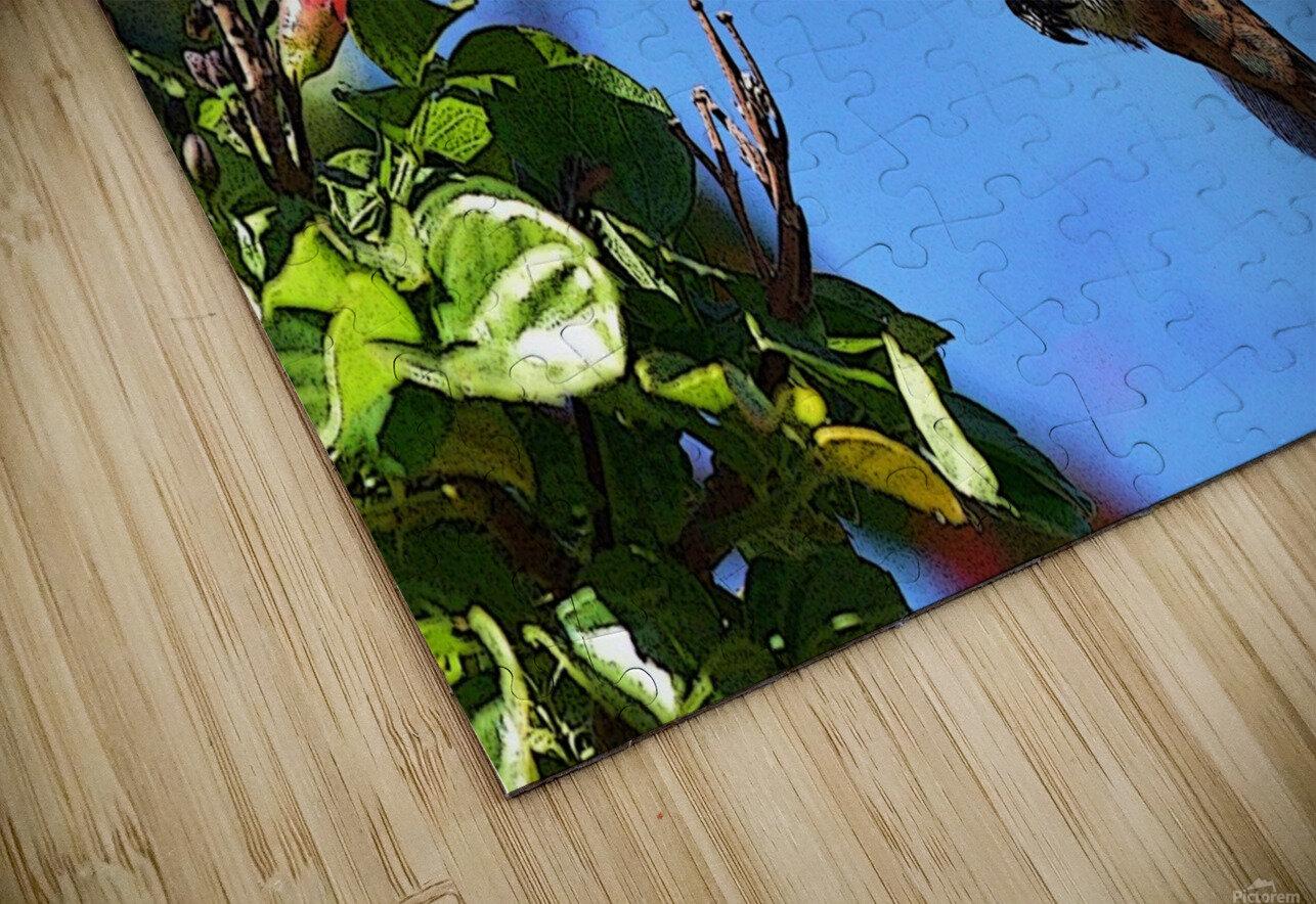 Inside the Flower Poster Edges HD Sublimation Metal print