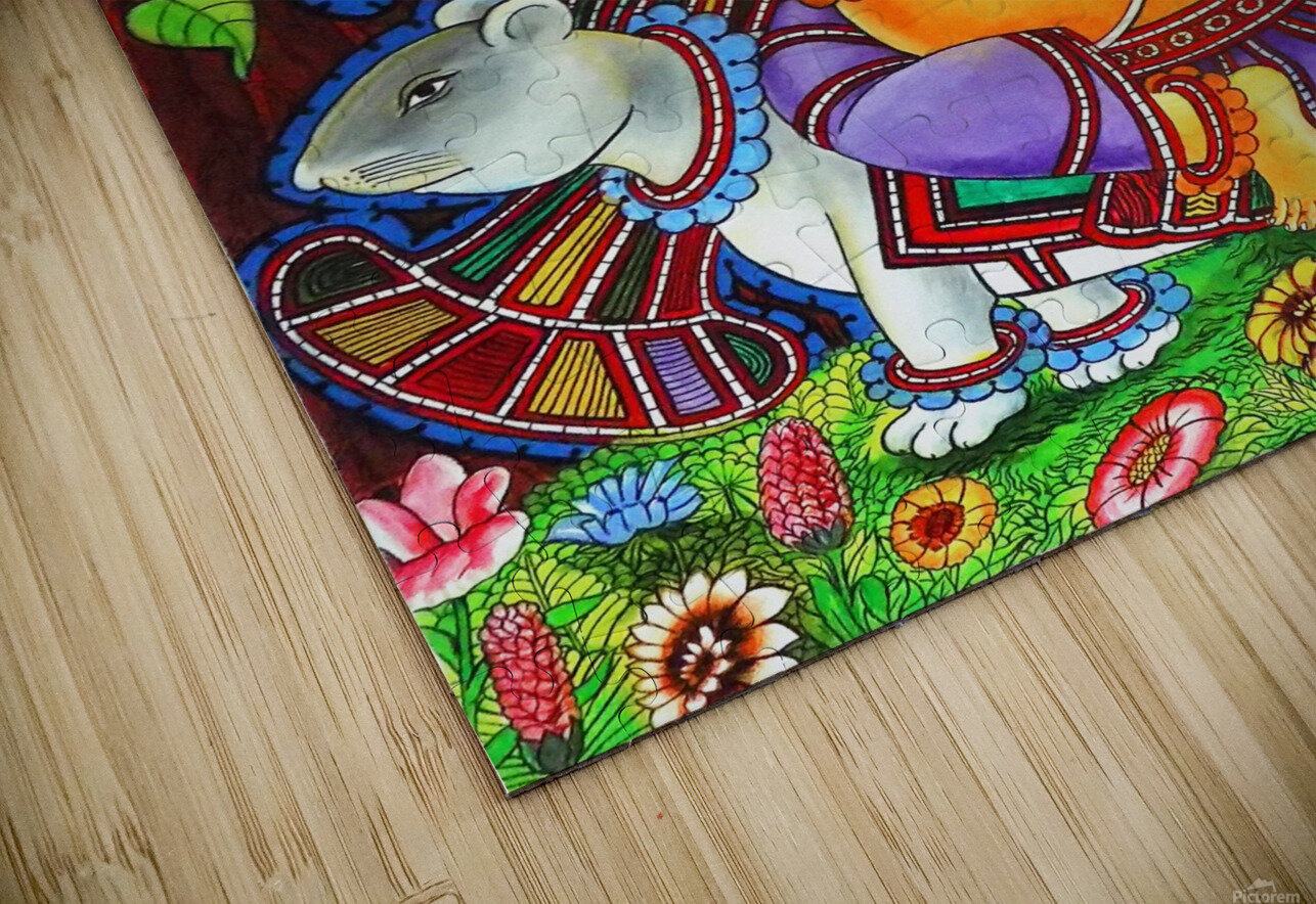 GANAPATHY MURAL HD Sublimation Metal print