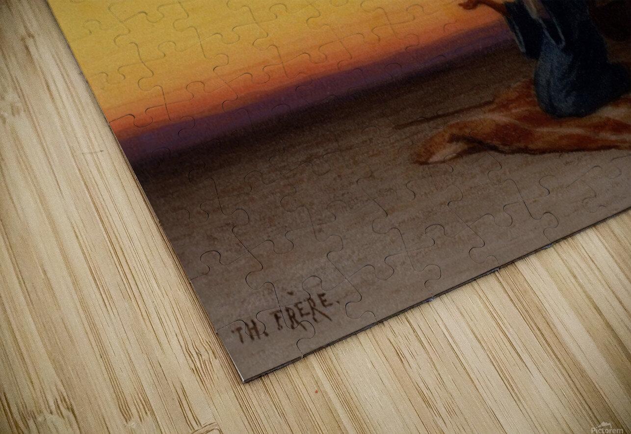 Arab at prayer HD Sublimation Metal print