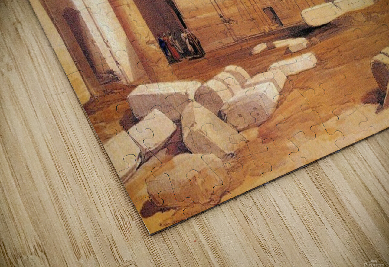 Ancient Egyptian civilization ruins with figures HD Sublimation Metal print