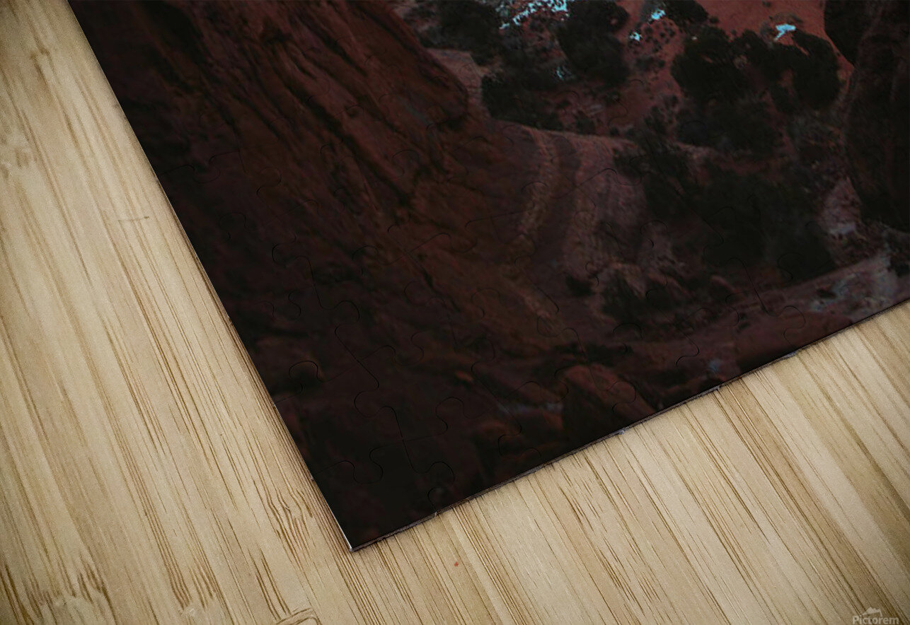 Rocky Buttes Viewed Through Canyon HD Sublimation Metal print