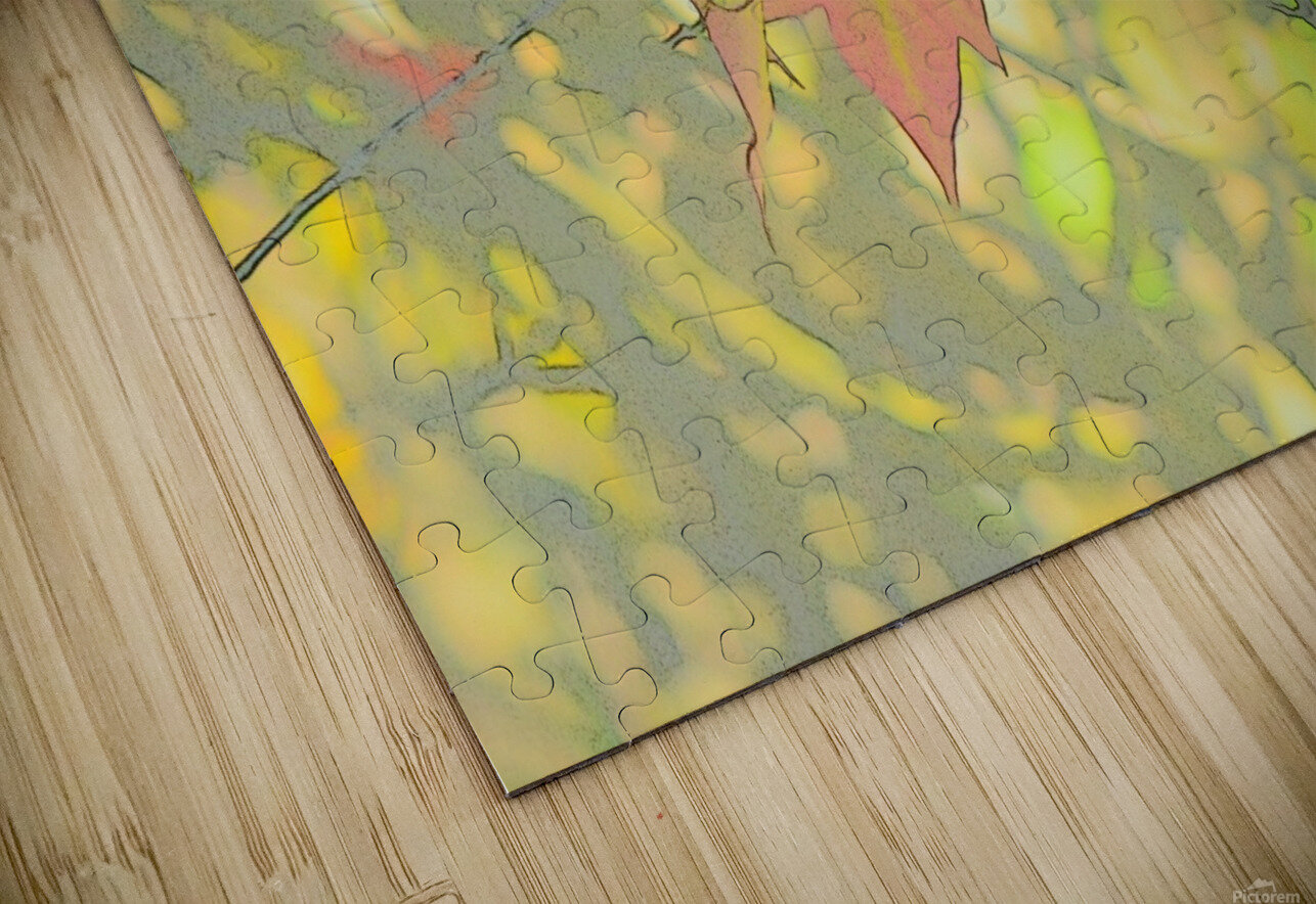 Leaves Macro 5 Abstract 1 HD Sublimation Metal print