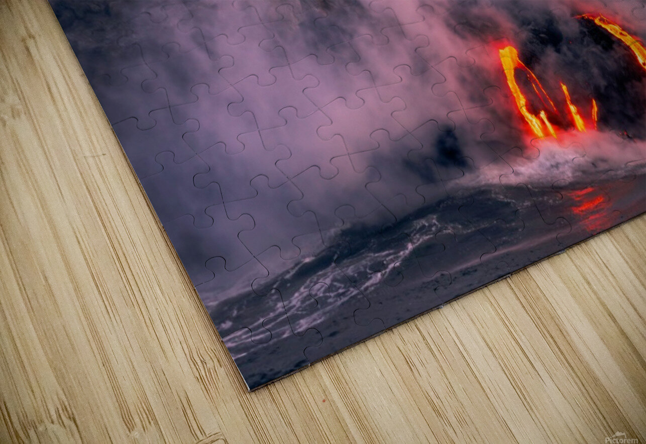 Sunrise at the lava flow HD Sublimation Metal print