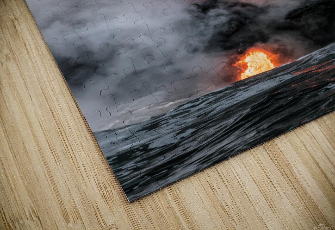 Simple lava shot HD Sublimation Metal print