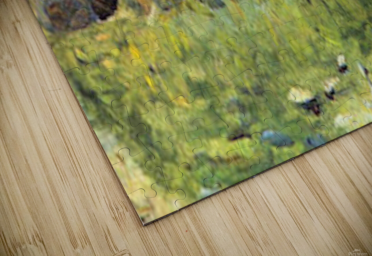 Farmer at work by Seurat HD Sublimation Metal print