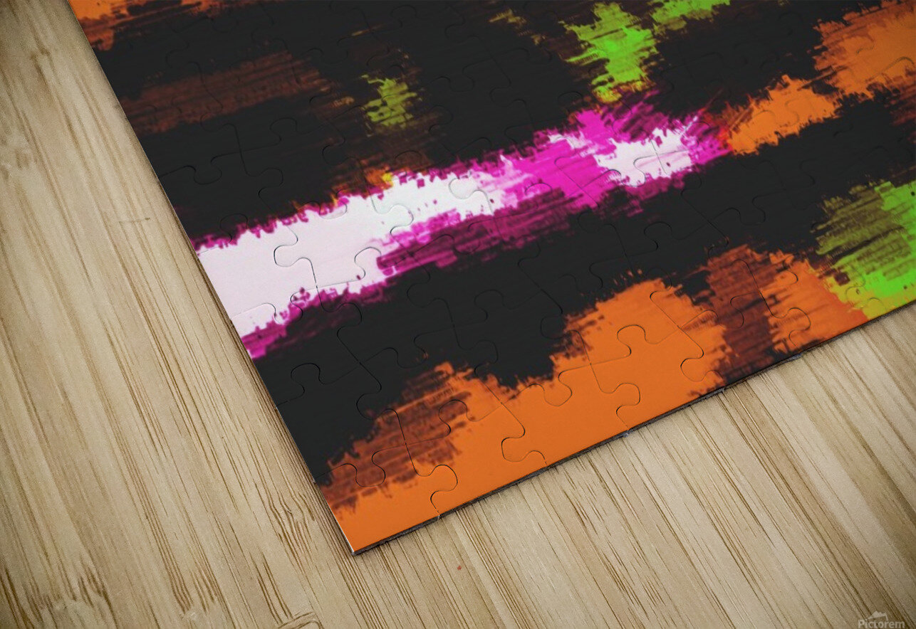 orange black pink green grunge painting texture abstract background HD Sublimation Metal print