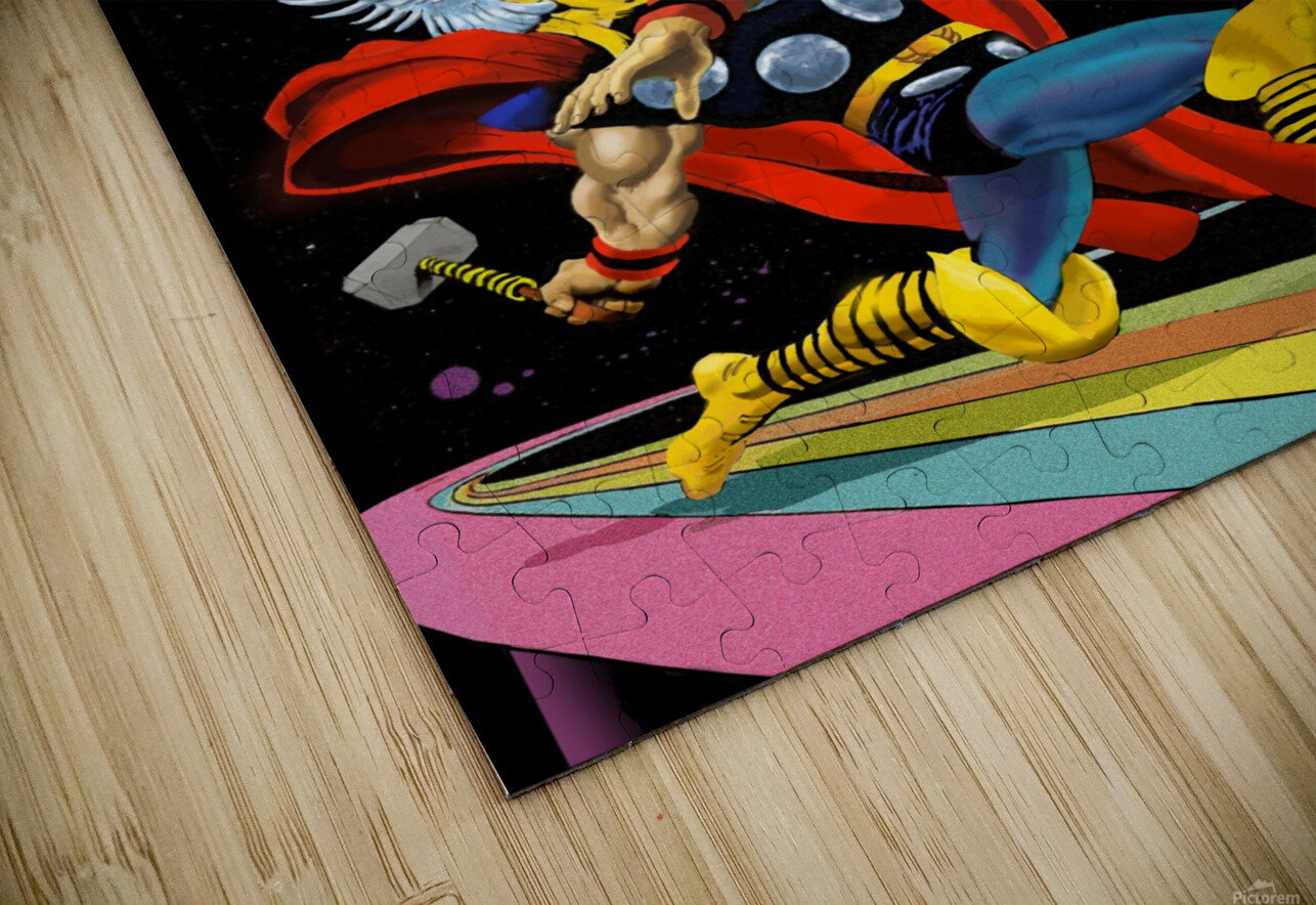 Marvel: Thor vs The Silver Surfer HD Sublimation Metal print