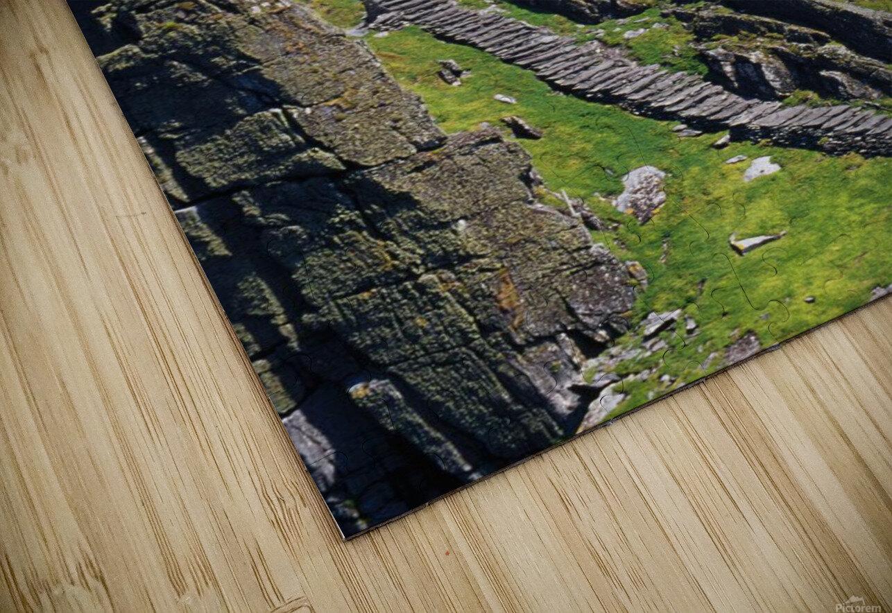Stone Stairway, Skellig Michael, Skellig Islands, County Kerry, Ireland HD Sublimation Metal print