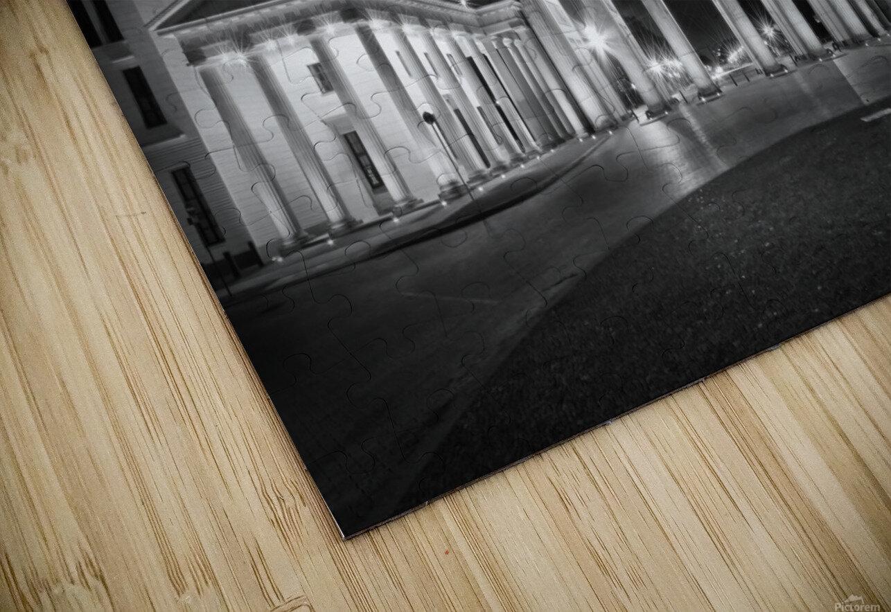 BERLIN Brandenburg Gate   Monochrome HD Sublimation Metal print