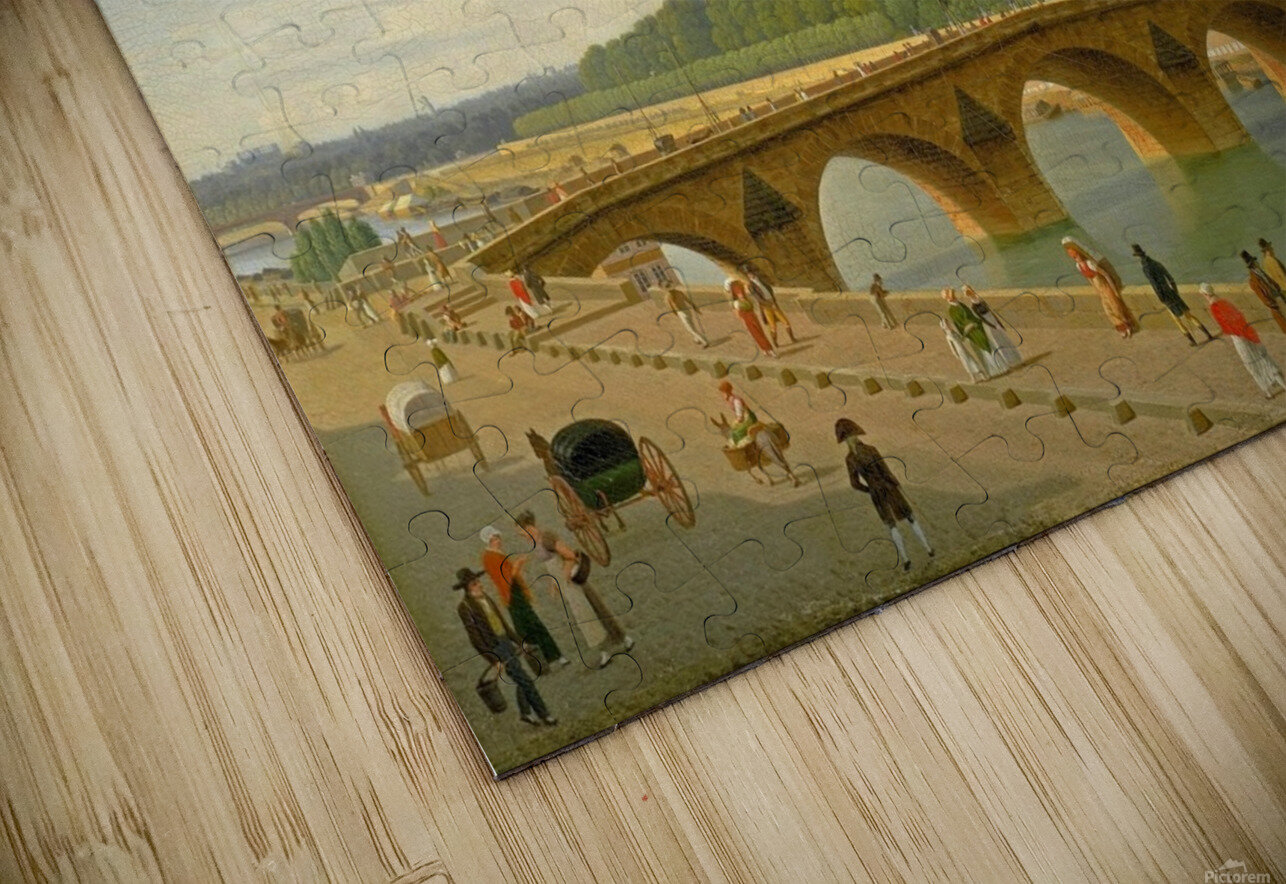 View at Pont Royal from Voltaire Quai in Paris HD Sublimation Metal print